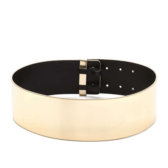 DVF Jill Mirror Belt Maje Gold Mirror Belt