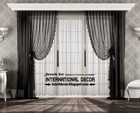 20 best modern curtain designs 2017 ideas and colors for Black and white curtain designs
