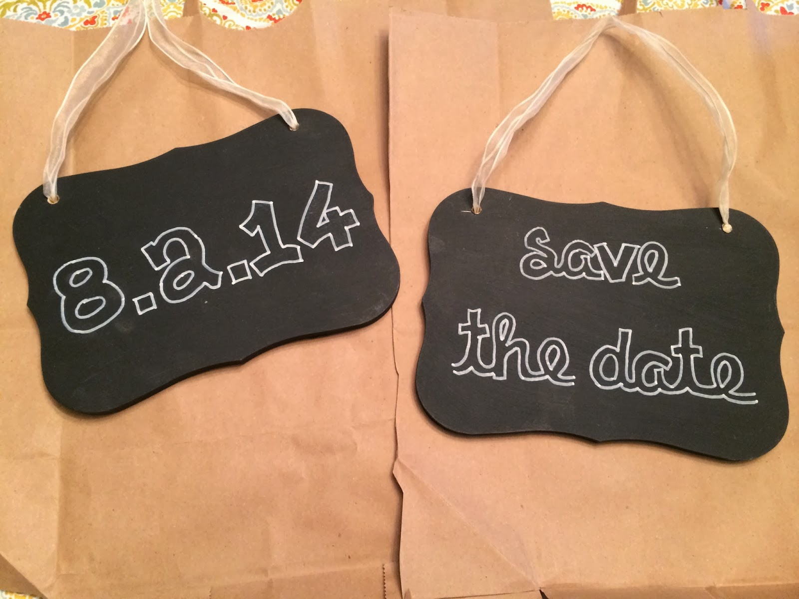 Doeblerghini Bunch:  Old Save the Date Signs