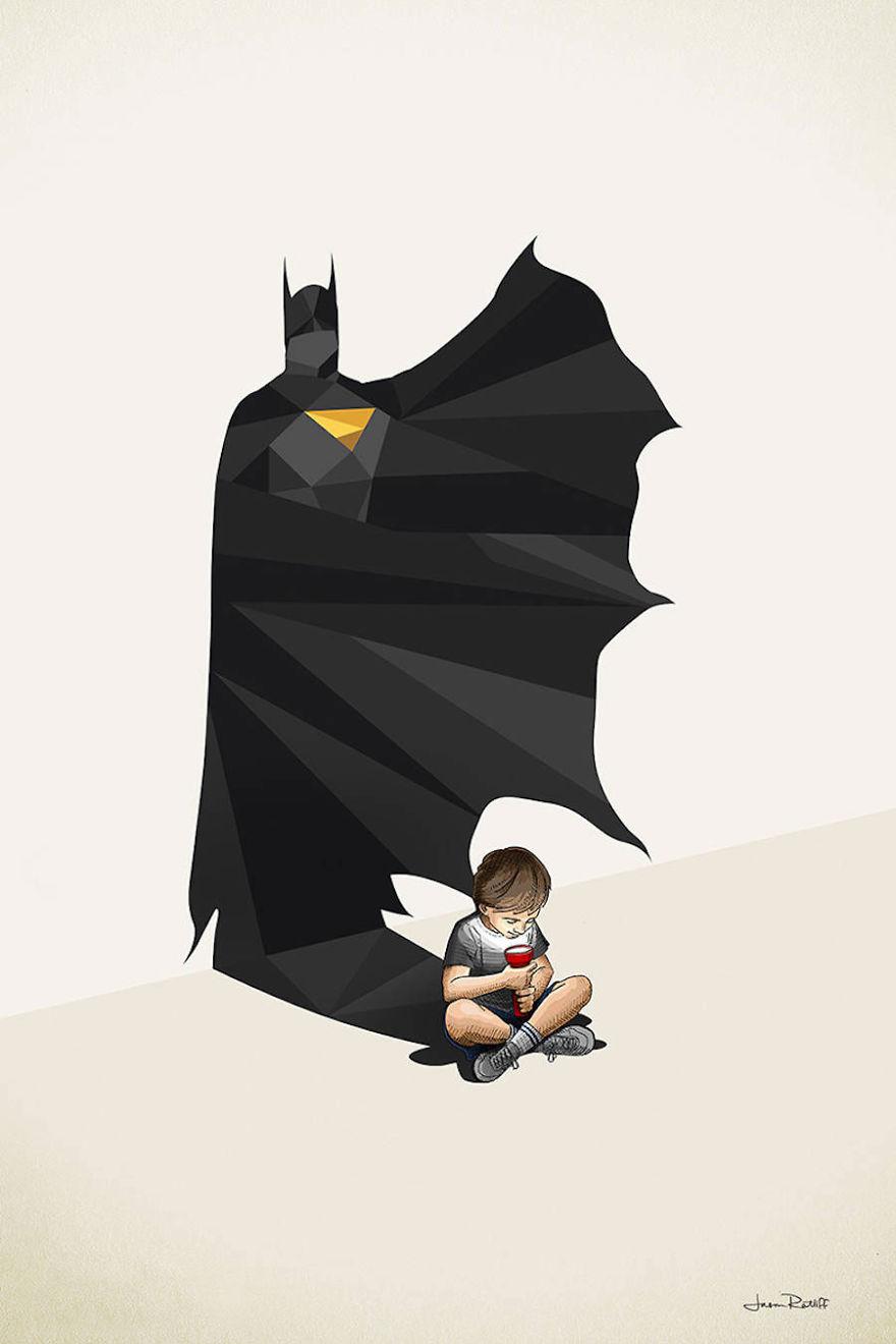 04-Batman-Bruce-Wayne-Jason-Ratliff-Comic-Book-Heroes-in-Super-Shadows-Illustrations-www-designstack-co