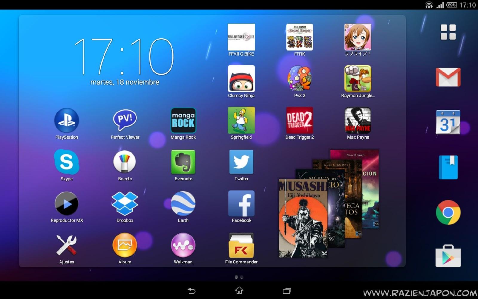 Apps para tablet z2 y xperia z3 videojuegos mangas y for Imagenes de fondo de pantalla para tablet