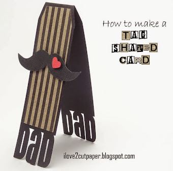 How to make a Tag Shaped Card