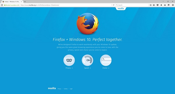 Mozilla updates its Firefox browser with Windows 10 support