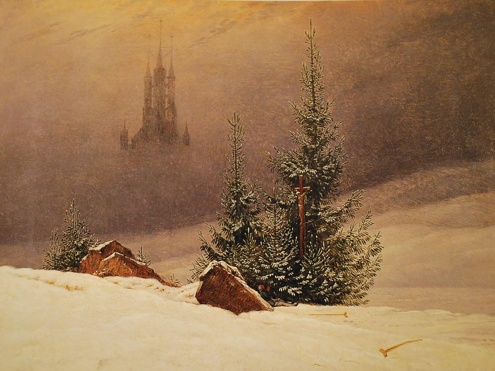 Caspar david Friedrich, Paysage d'hiver avec église, Dortmund