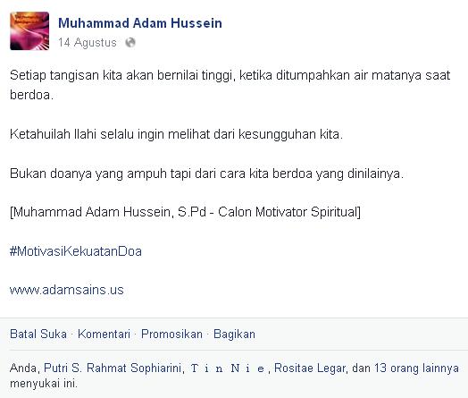 Bukti Kata Motivasi Muhammad Adam Hussein, S.Pd - Ketiga