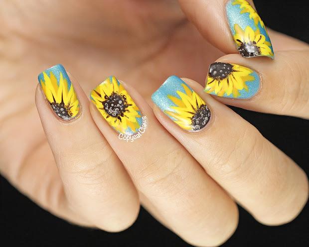 Sunshine Sunflowers Nail Art Sparkly Life Vtwctr
