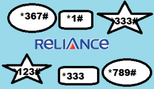 Reliance ALL USSD Codes List with details