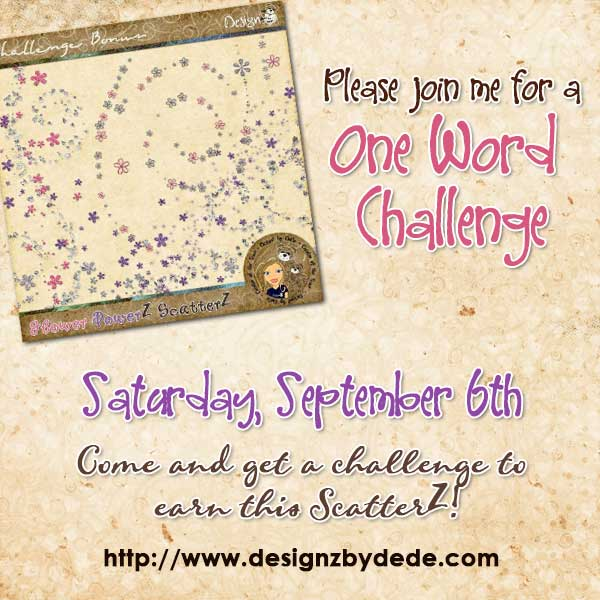 One Word Scrapbooking Challenge from DesignZ by DeDe
