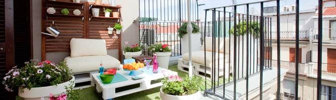 Decoraci n de terrazas en espacios peque os terraces for Decoracion del hogar espacios pequenos