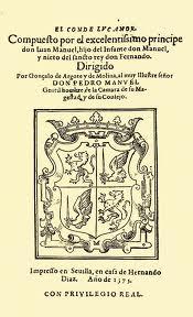 Portada primera edición publicada de El Conde Lucanor