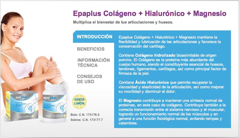 Colágeno+Hialurónico+Magnesio Epa Plus