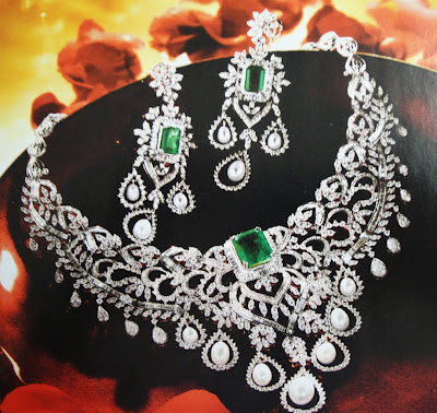 Latest Diamond Necklace Set designs