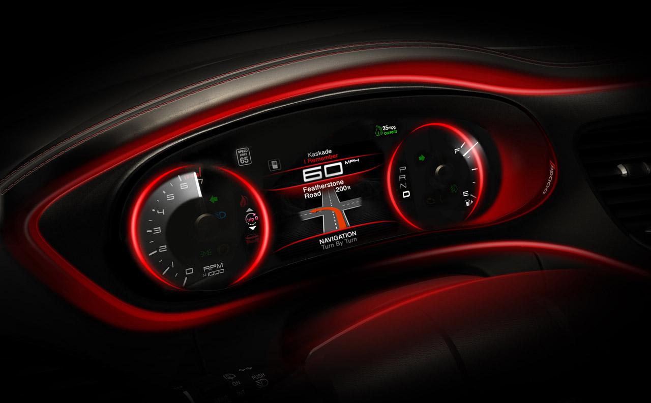 Dodge teases 2013 dart interior