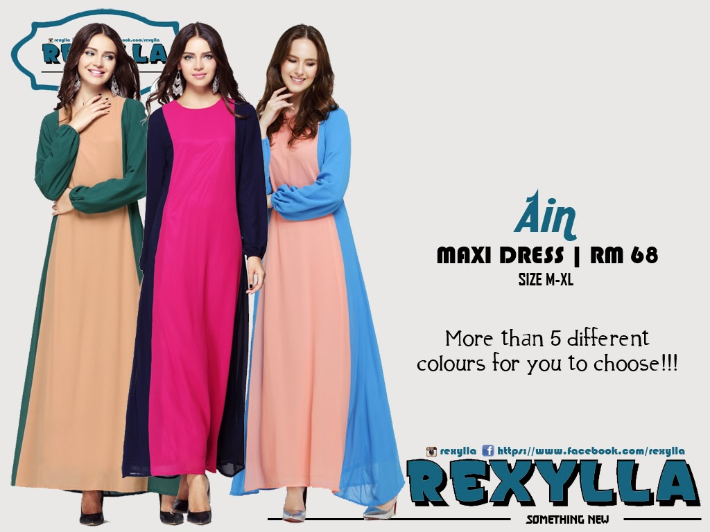 rexylla, maxi dress, ain collection