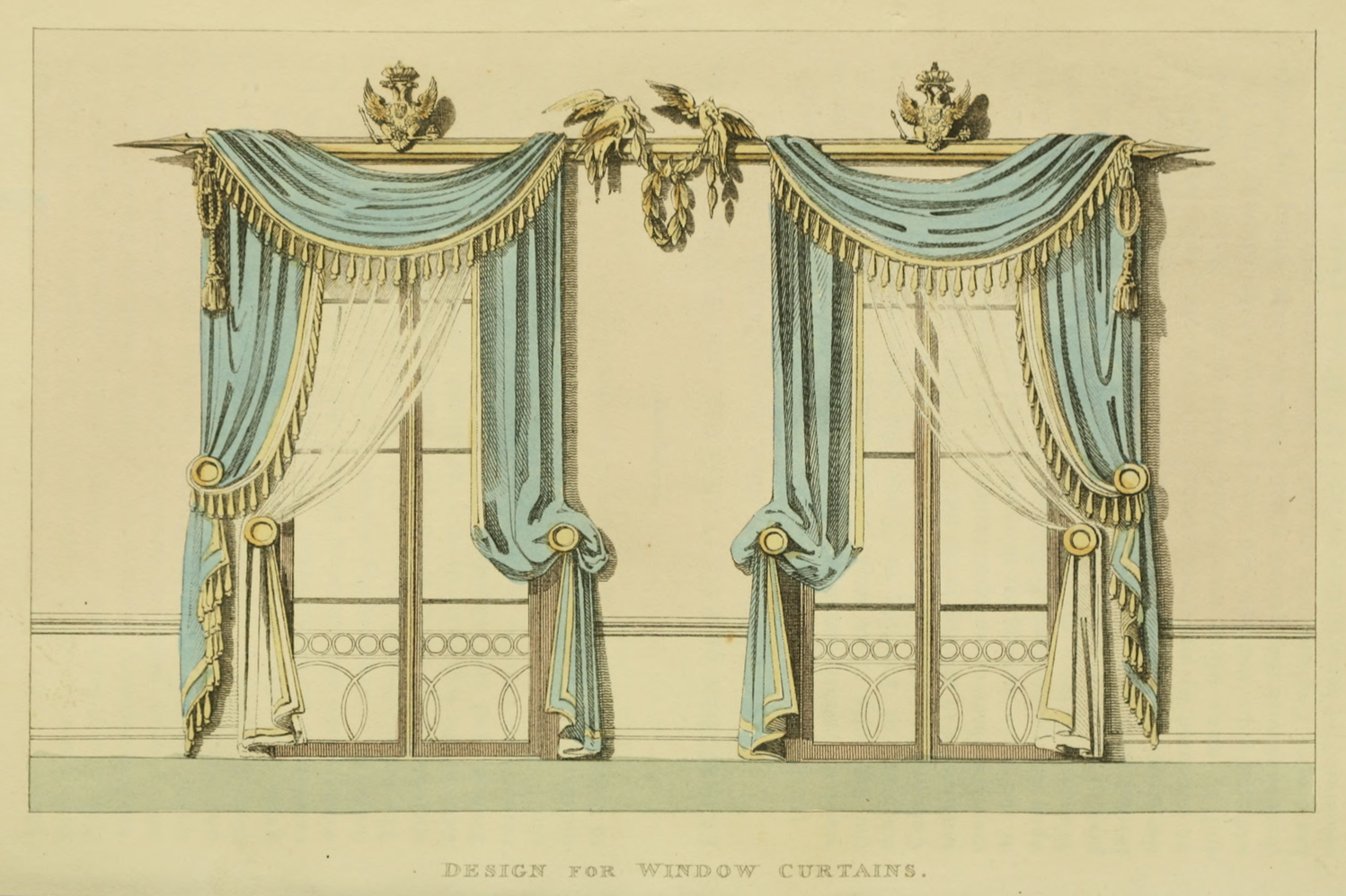 Ekduncan my fanciful muse regency era curtains for Victorian era windows