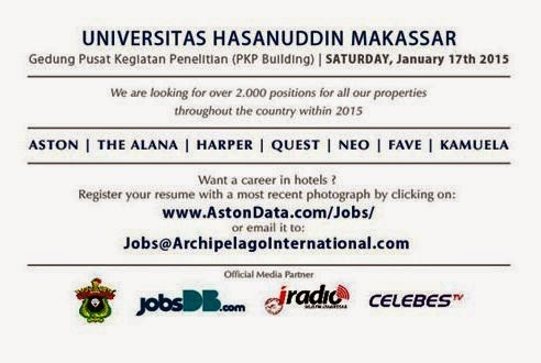Job Fair UNHAS 17 Januari 2015