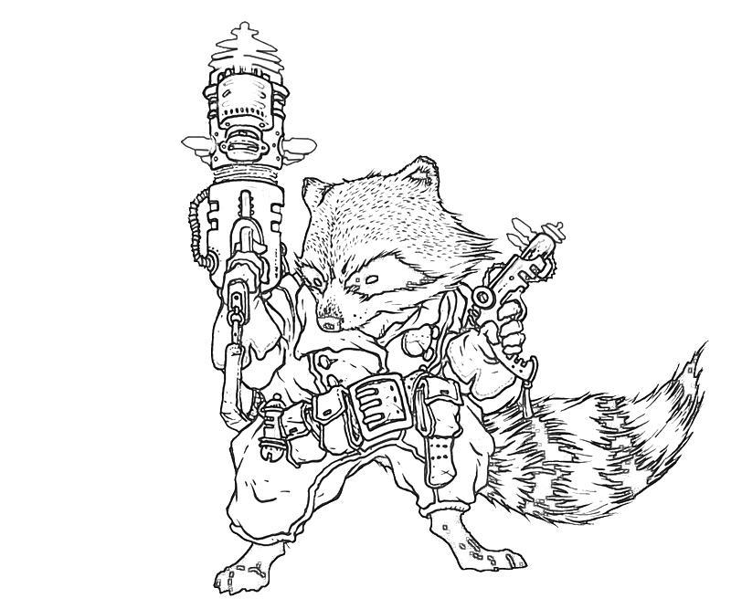 rocket raccoon cartoon