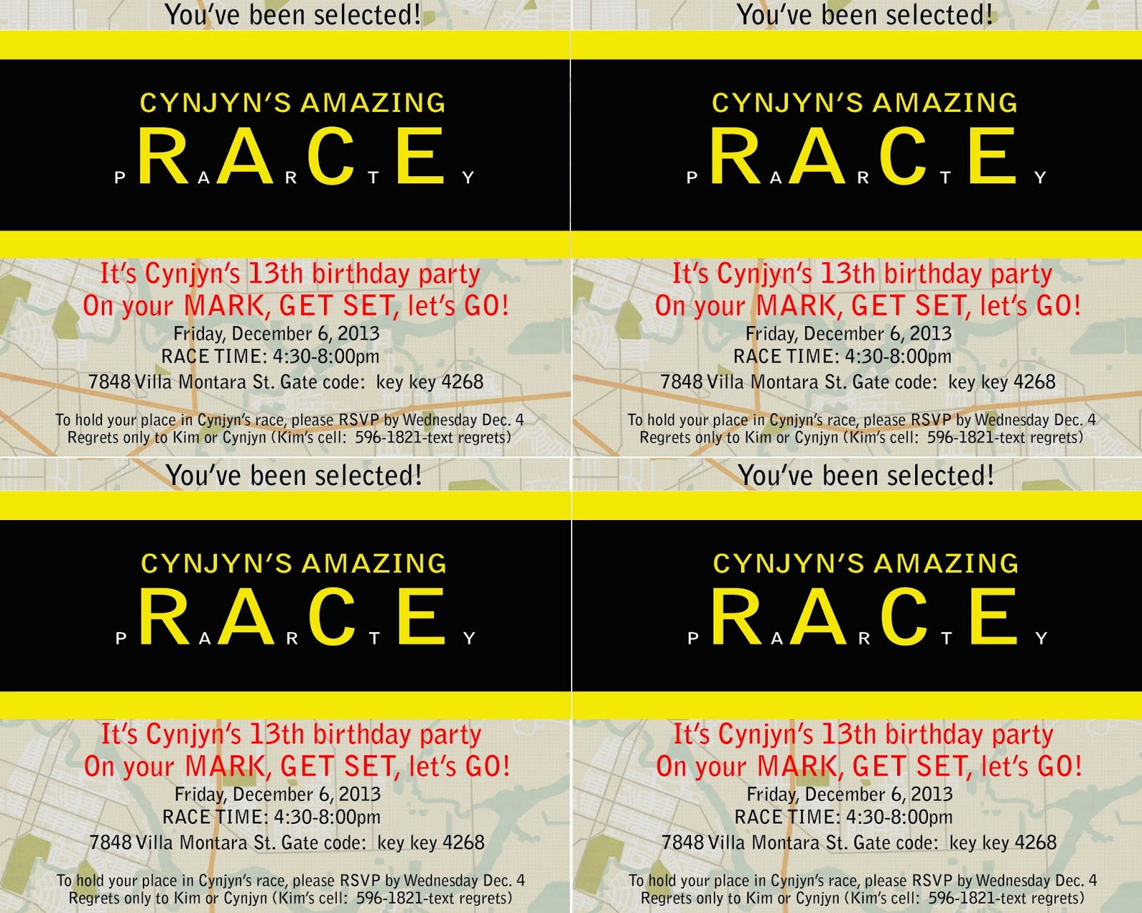 amazing race birthday party templates - what 39 s up with kim amazing girl amazing party
