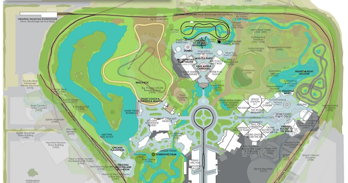 Disneyland 1955 Map Disneyland California ...