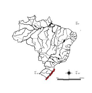 Mapa da Distribuição da Lagartixa da Praia