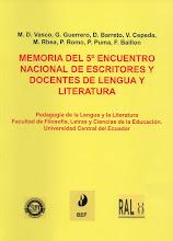 Memoria del 5o Encuentro Nacional de Escritores y Docentes de Lengua y Literatura