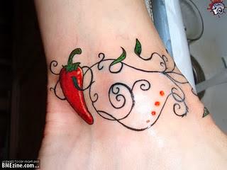 Fotos de Tatuagens Femininas de Pimenta