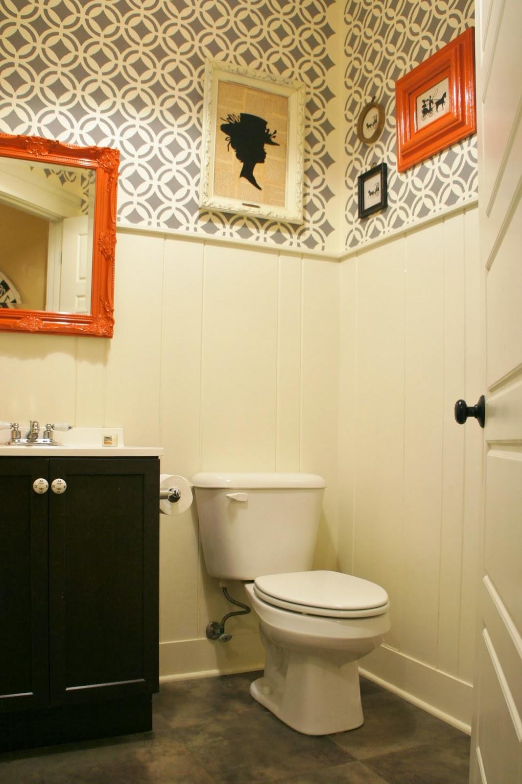 Shannan Martin Writes: Steph\'s Thrifty Half-Bath with the Raddest Walls