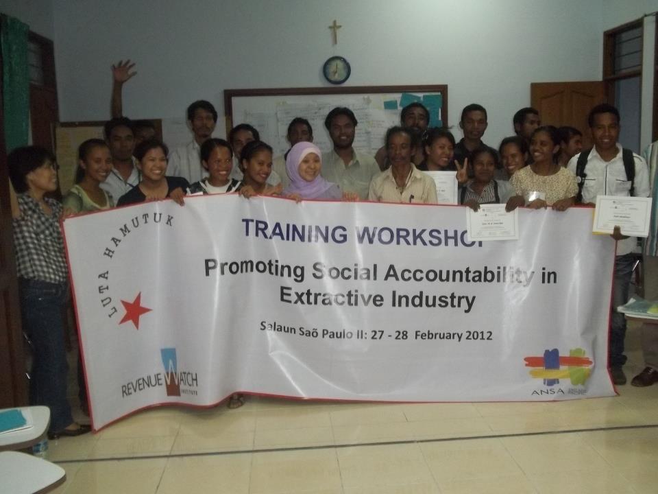 Photo last day Workshop Social Accountability in Dili, Timor Leste