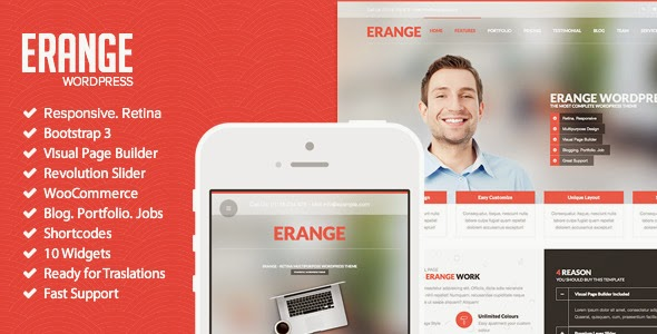Erange - Responsive Multipurpose WordPres Theme