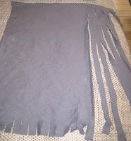 przędza z koszulek bawełnianych