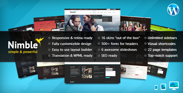 Nimble Multipurpose Retina Ready WordPress Theme Version 1.2.1 free