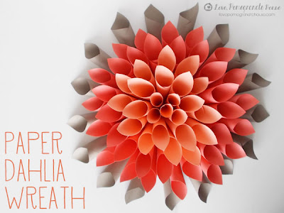 Paper Dahlia Wreath from Love Pomegranate House