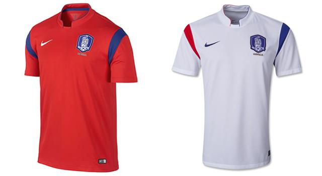Camisetas selección Corea del Sur Mundial 2014
