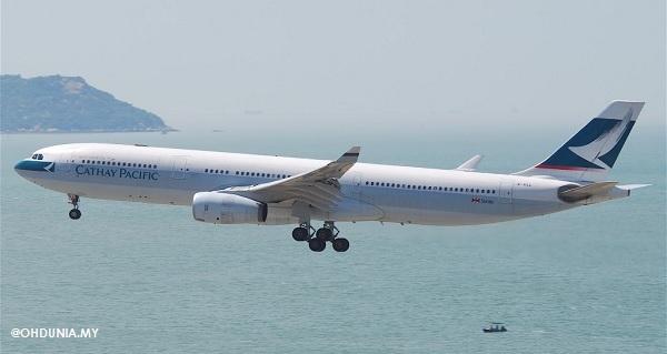 Pesawat Cathay Pacific membuat pendaratan cemas di Denpasar, Bali