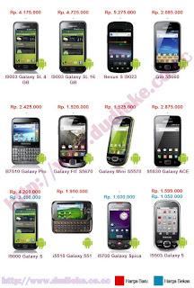 Harga Handphone Android Terbaru Update Juli 2011 Lengkap