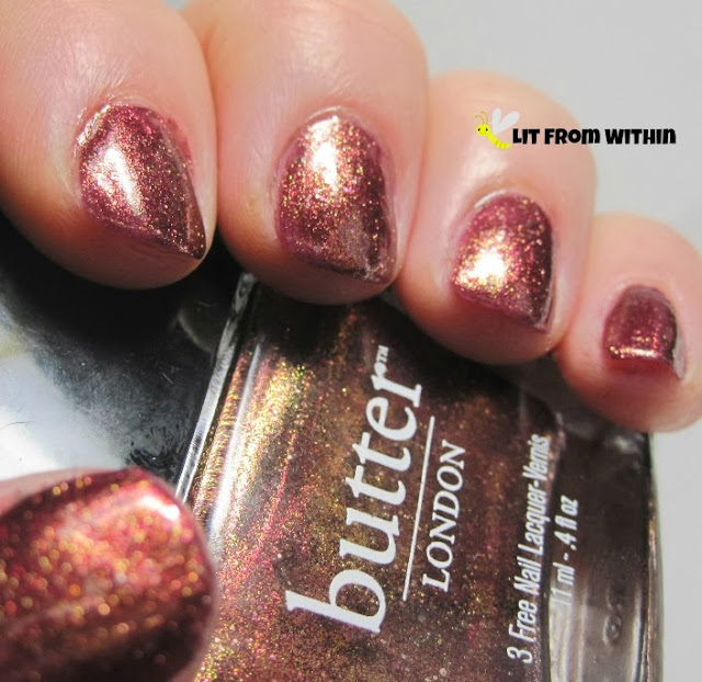 amazingly beautiful coppery-wine opaque glitter