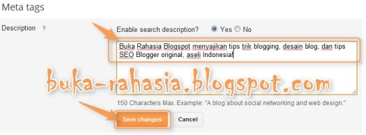 Meta Description Blogger 2