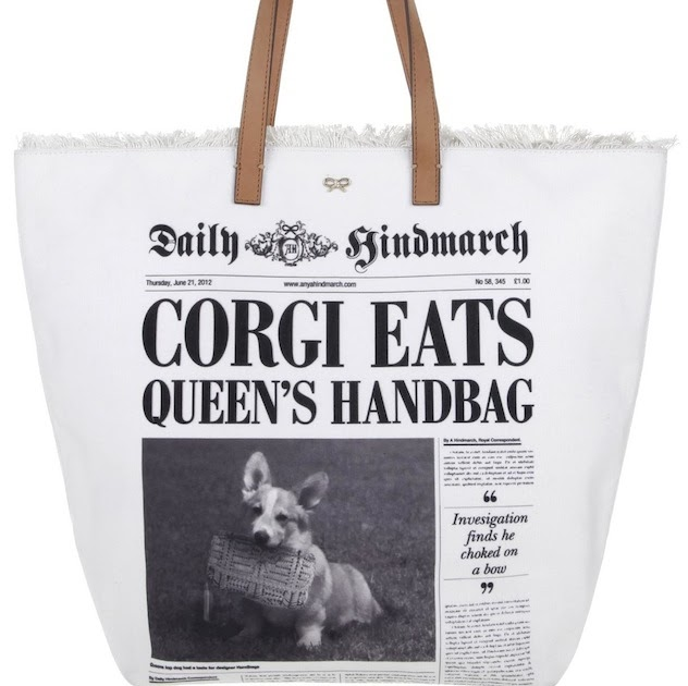 The Terrier and Lobster: Anya Hindmarch Newspaper Totes