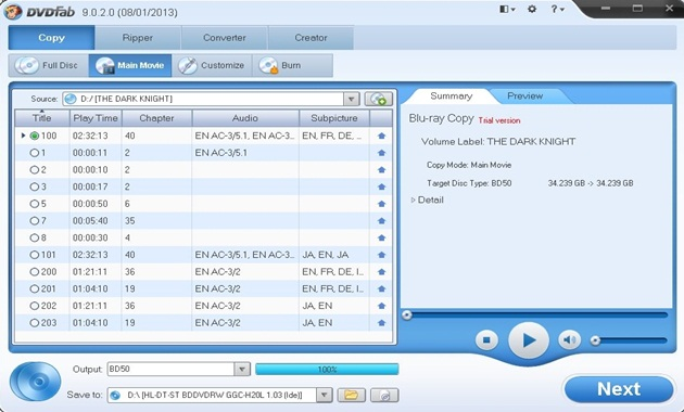 DVDFab - скачать DVDFab 9.2.0.1, DVDFab - Программа для быстрого копировани