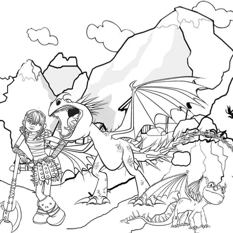 Deadly Nadder Dragon Coloring Pages