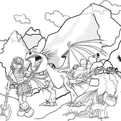 Art sketch cute girl Viking Astrid How to train your dragon coloring pages for children to print out
