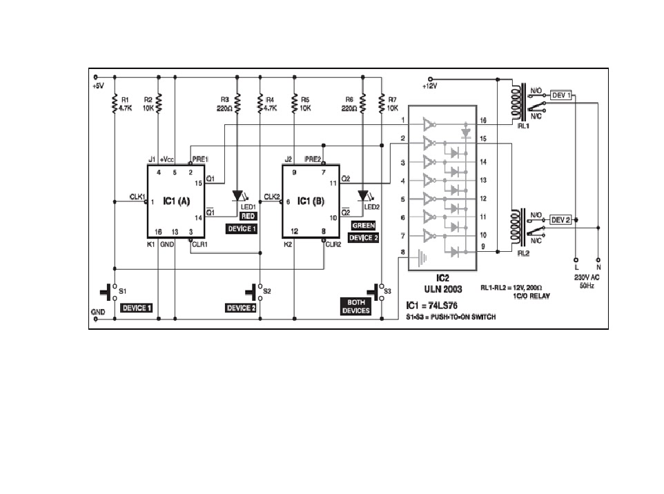 electronics projects smart foot switchhere\u0027s a smart foot switch based on dual negative edge triggered master slave jk flip flop ic 74ls76 (ic1) j1 and j2 inputs are conneted to 5v through