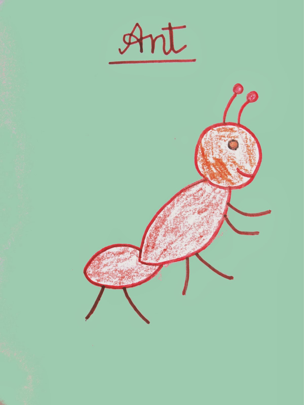 ant drawing for kids