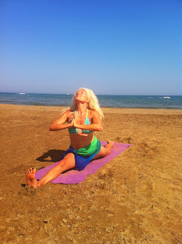 Beach time yoga this Summer