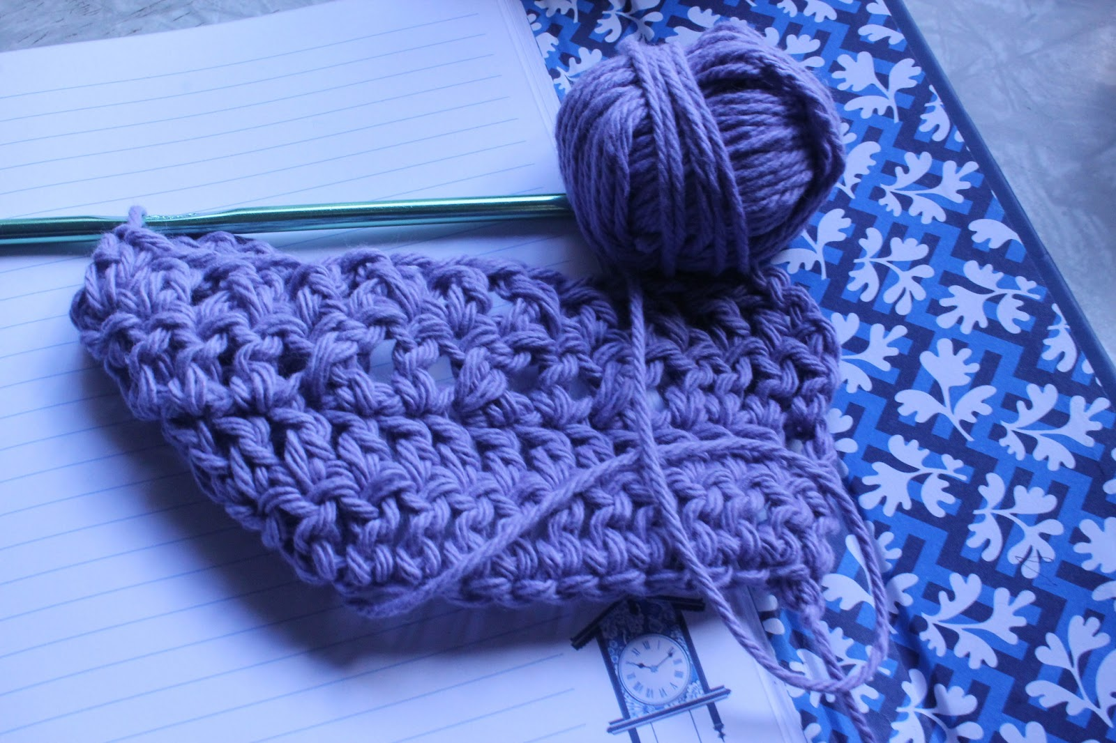 Crocheting Instructions For Left Handers : ... Life at Leisure: Learn to Crochet: Crochet Cross Stitch (Left-Handed