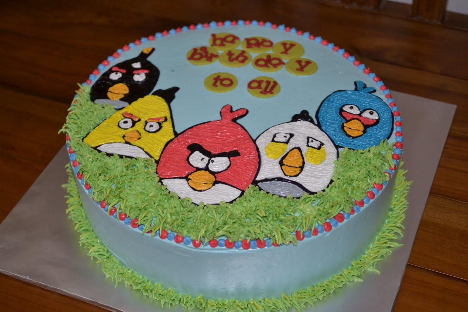 Angry Birds Sheet Cake