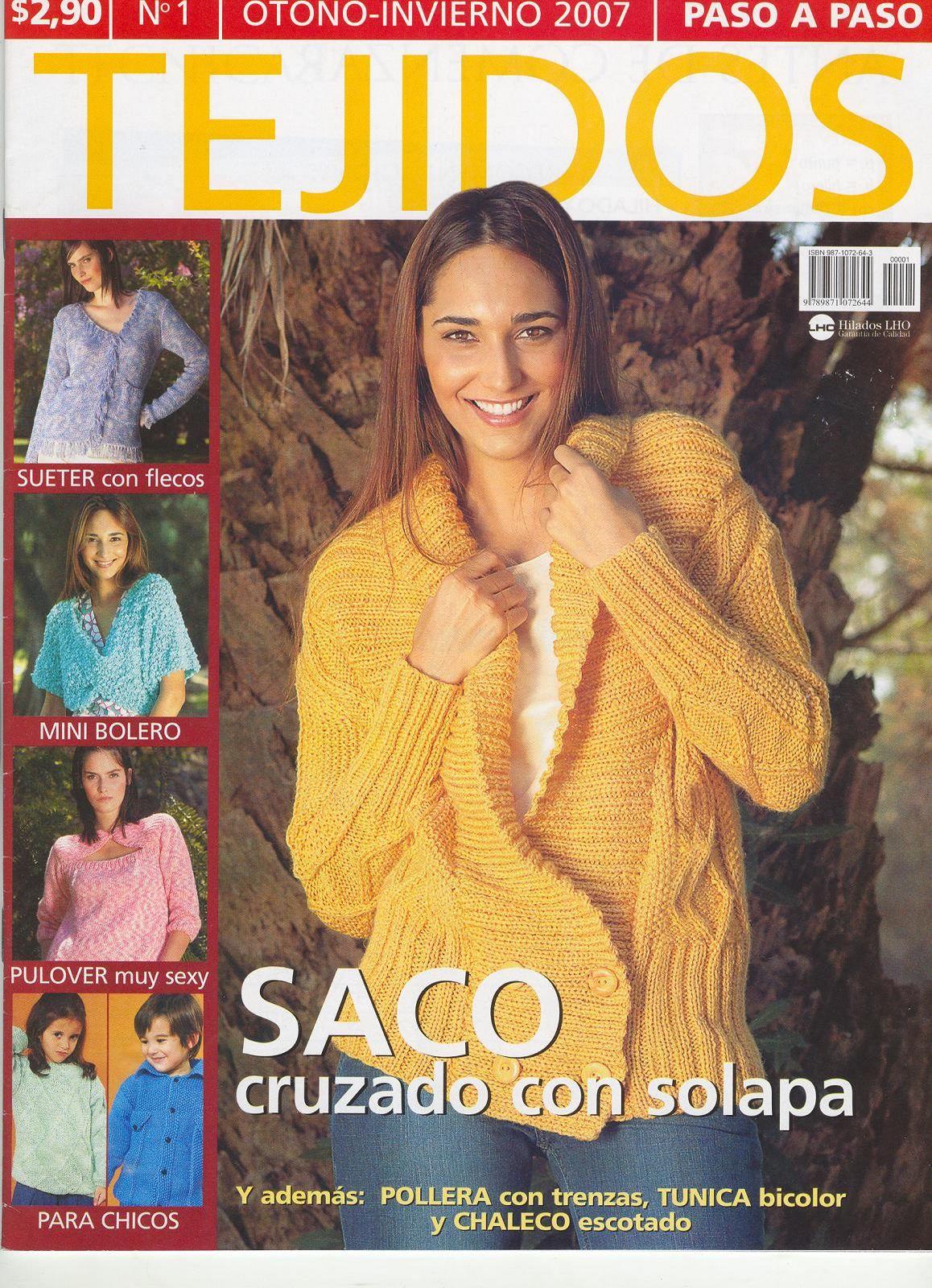 Revista: Tejido Paso a Paso 1 (en dos agujas)