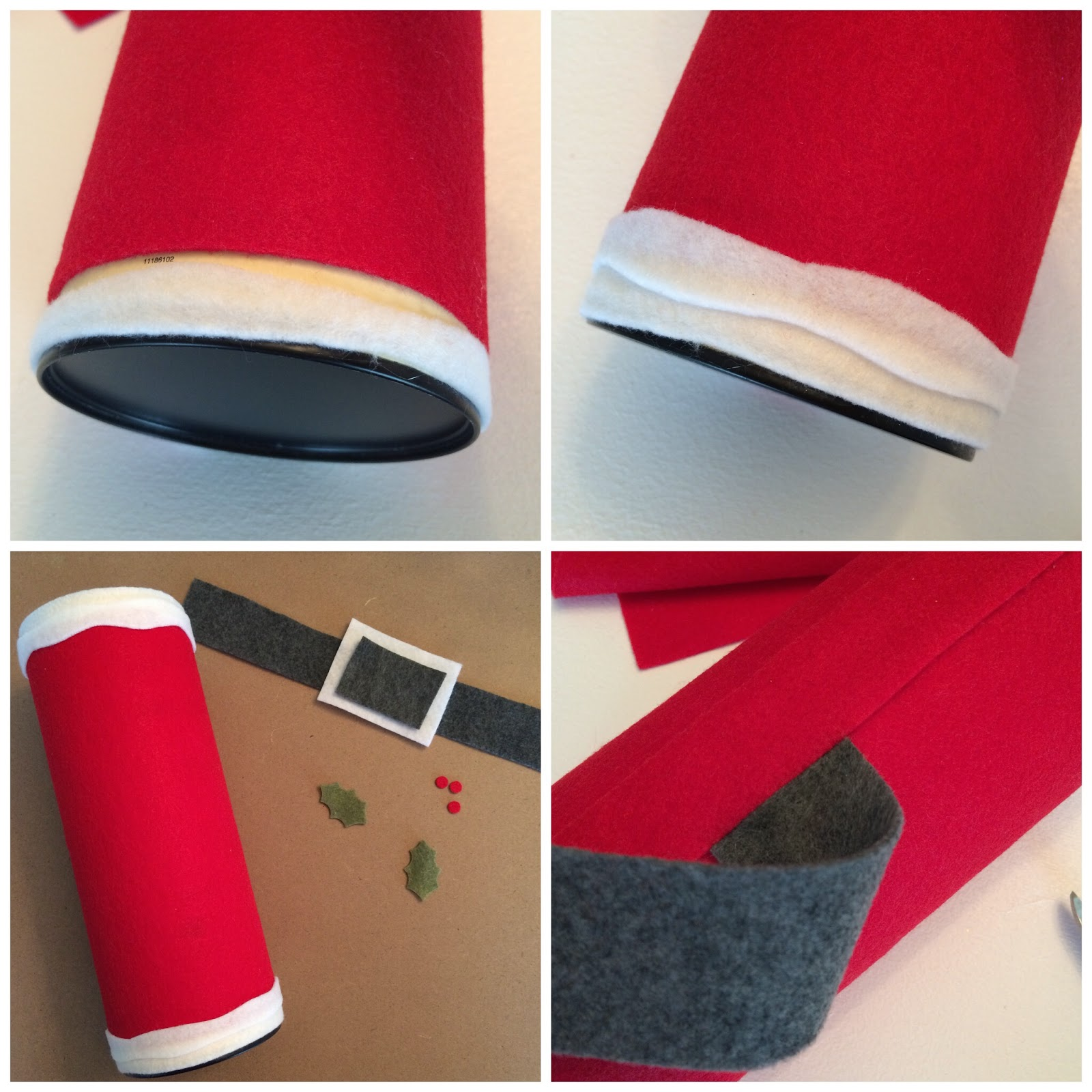 DIY Holiday Money SANTA Bank - An Upcycle Project, Felt Craft - LeroyLime