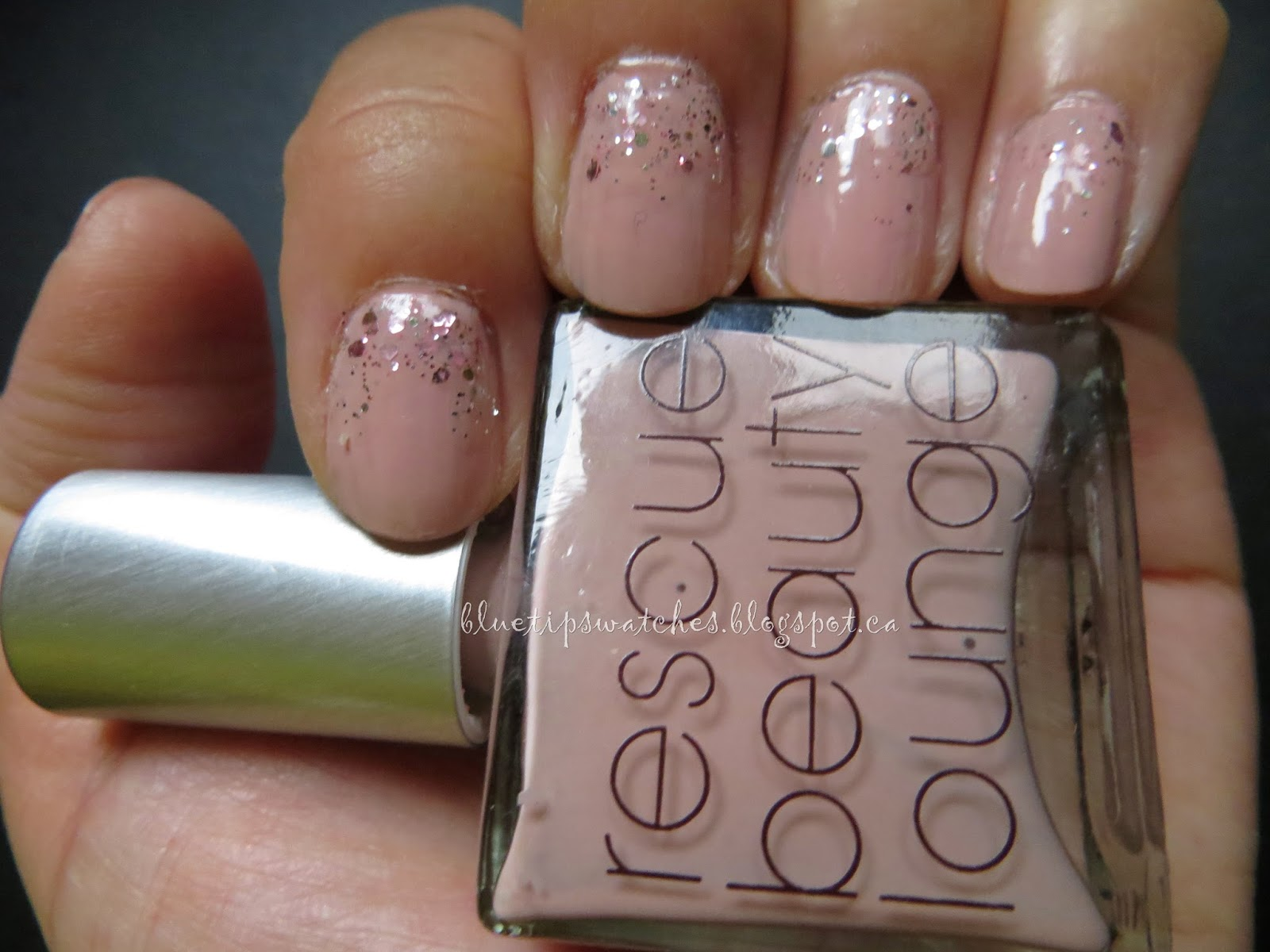 Blue Tip Swatches Nail Design Rescue Beauty Lounge Plie And