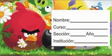 angry birds etiqueta